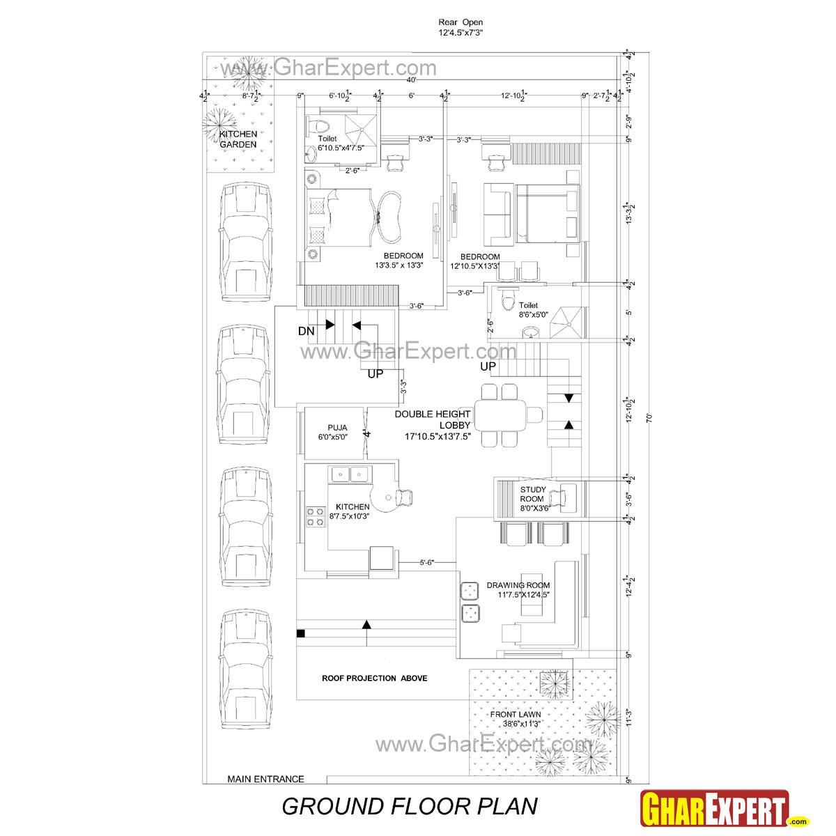 25 50 House Plan South Facing House Design Ideas
