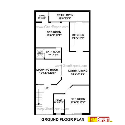 south facing plot house plan