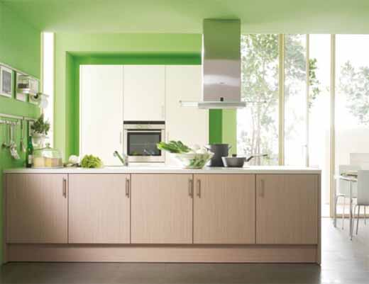 Best color combination for modular kitchen cabinets and walls - Decoration murale cuisine moderne ...