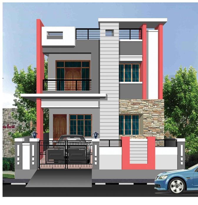 3d design of Exterior house - GharExpert