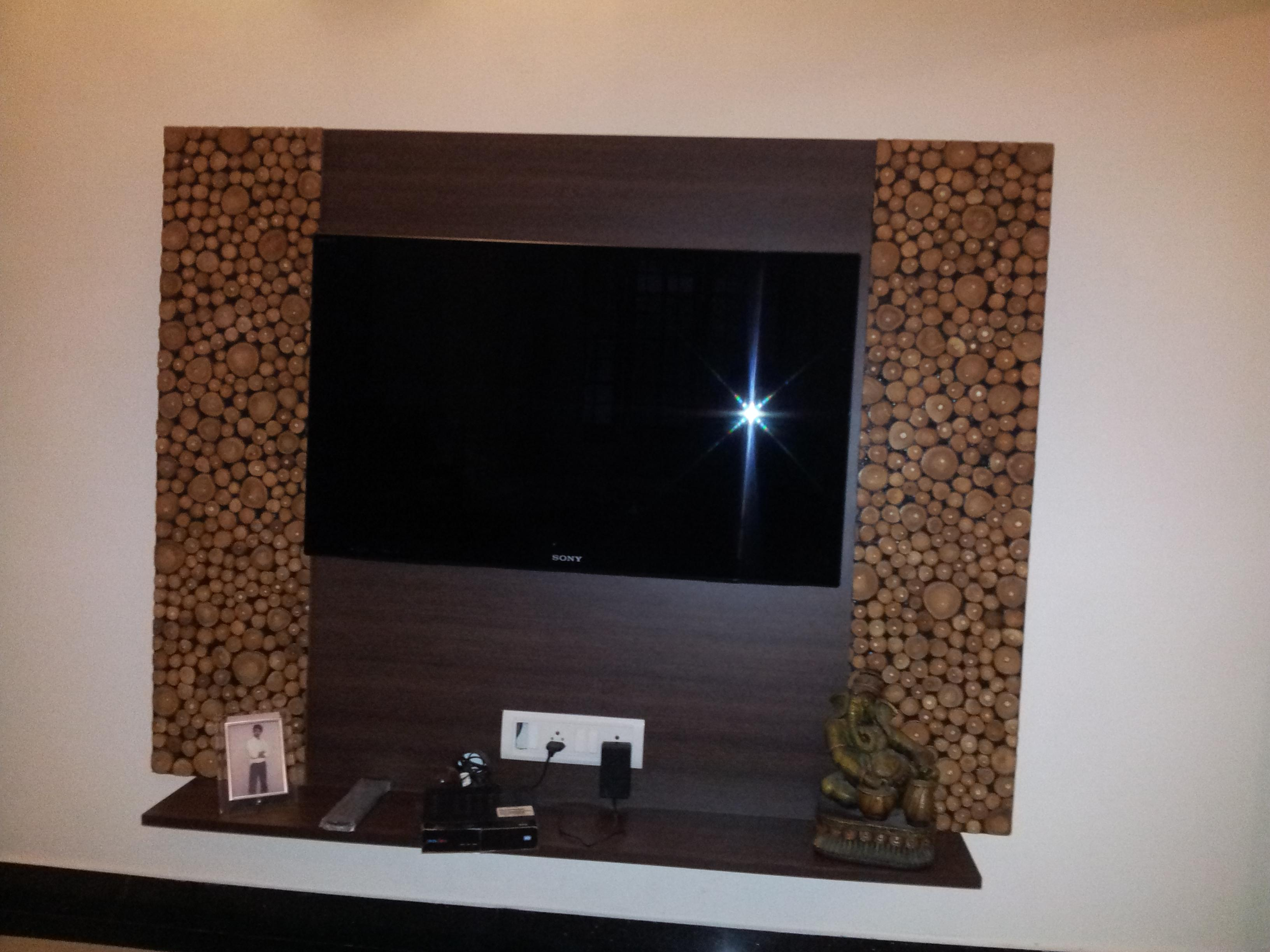 LED TV Wall Mount panel with beautiful laminate on both sides of the ...