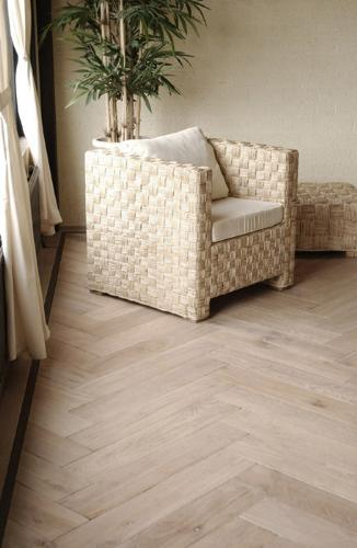 Herringbone Pattern of Wooden Flooring