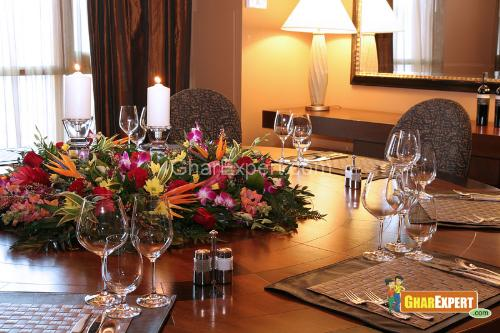 Flowers Decor on Dining Table