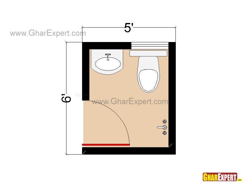 gallery for small half bathroom floor plans