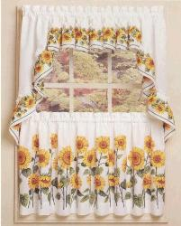 Cotton Foral Printed Kitchen Curtain
