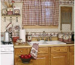 Country Style Curtain in Kitchen