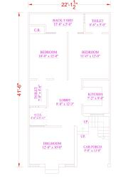 villa layout with  saperate floors