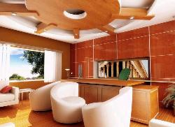 Wooden Ceiling with conceal lights