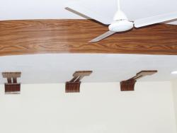 Wooden Foils on POP Ceiling