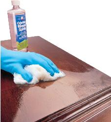 Cleaning of Wooden Table with Minerals