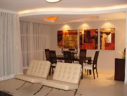 Dining room ceiling, wall painting, curtains, Lighting, furniture