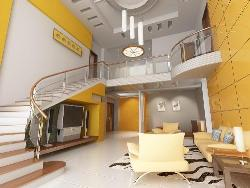 Living Room ceiling, walls, stairs, flooring and Furniture