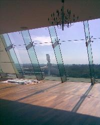Wooden flooring & Glazing View