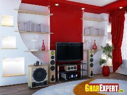 Wall Decoration and LCD Unit