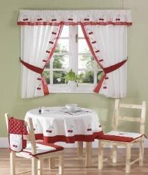 Sheer Curtains in Kitchen with maching table cloth
