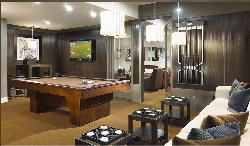 Games room interior furniture arrangement