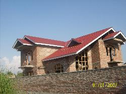 brick work and truss