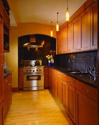 Gallery Style Kitchen Cabinets in wood