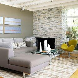 living area fire place
