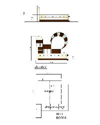 Bed design drawing and bed elevation