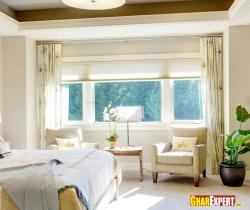 Bedroom furniture and window