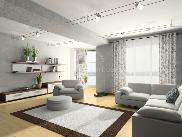 Living room with grey paint scheme