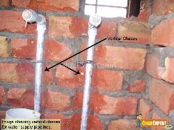 Vertical chases in wall
