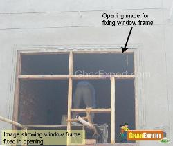 Wall opening for windows