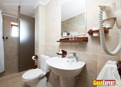 Bathroom wall and floor tile with stone finish