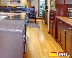 hardwood flooring for open kitchen
