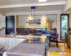 Modern hanging lights for open kitchen