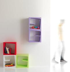 Cool irregular boxes look great on wall for wall decor