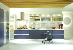 Modern Kitchen design in Blue Color