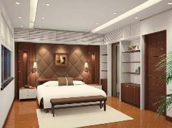 Master Bedroom Interior, wall decor, Furniture, Ceiling, Flooring, Lighting
