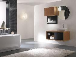 Simple Bathroom Decor with Bath vanity, floor and bath tub