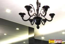 Antique theme chandelier in black for dining room
