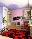 Stylish kid room with a lot of storage options