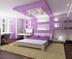 extended ceiling wall to ceiling for bedroom looks awesome