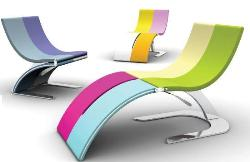 Innovative colorful chairs design for pools