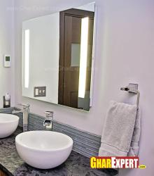 Simple design bathroom mirror