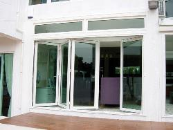 Glass doors for main entrance