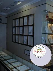 Wall design in jewellery's showroom