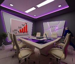Meeting or conference room in corporate office
