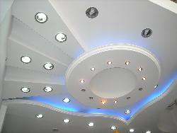 Exotic ceiling design in POP using LED lights