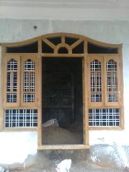 Combined door and window design