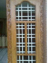 Door design with grills