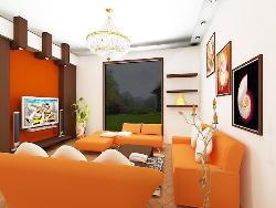 WoW factor in your living room with ceiling, LCD wall and furniture design