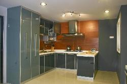 U shaped modular kitchen design luxury  cabinet