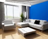 Blue paint scheme living room