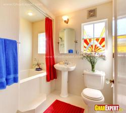 12 by 9 ft spacious bathroom with bathtub